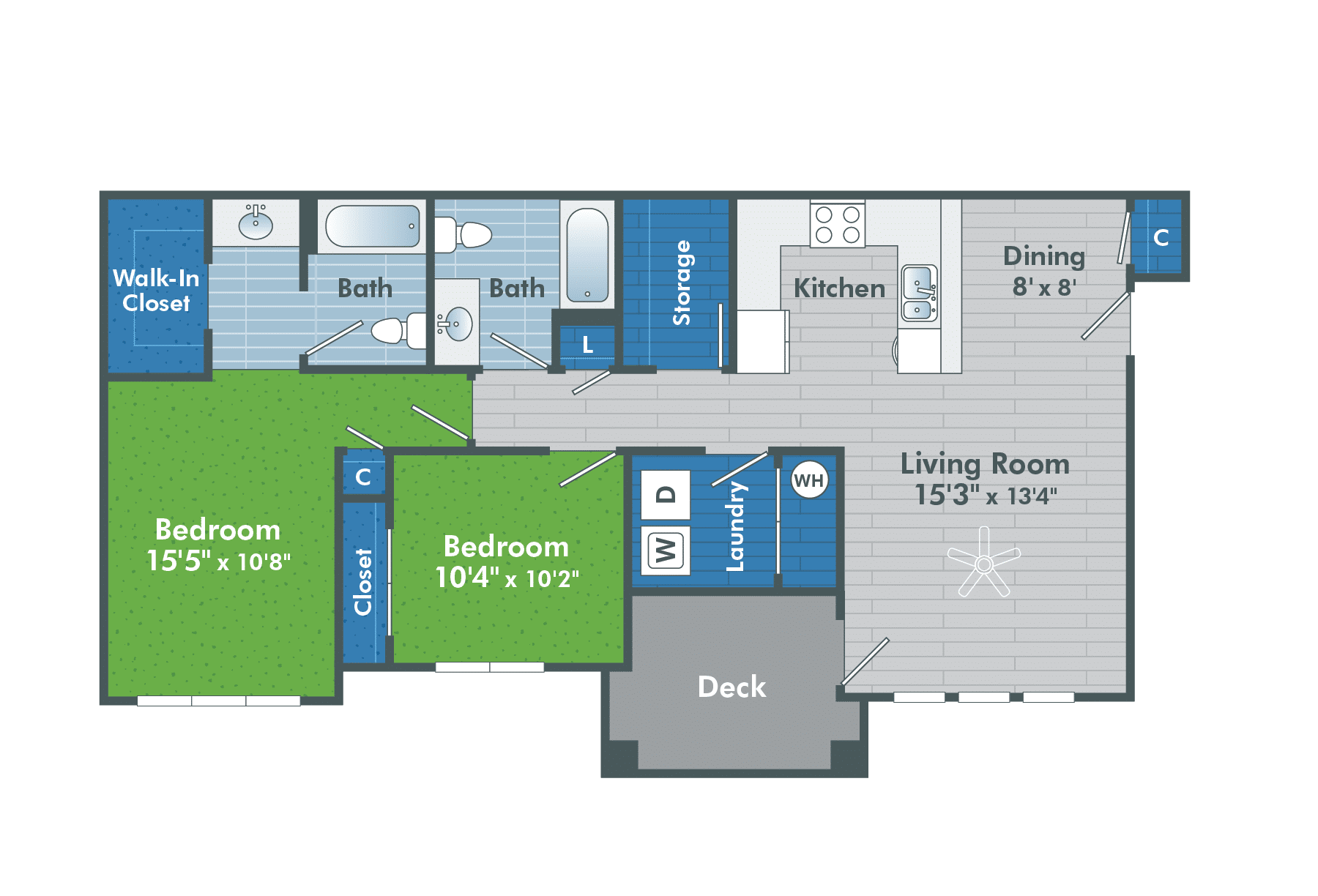 Two Bedroom Apartments Apartments In St George